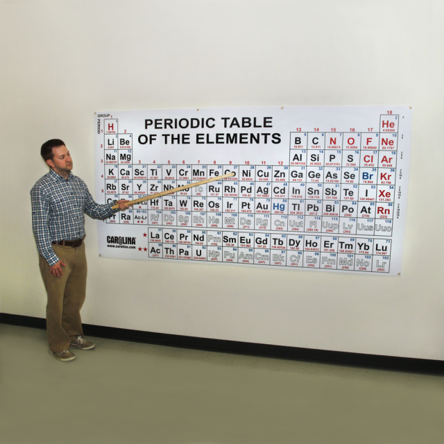 Periodic Table Of The Elements Giant 4 X 8